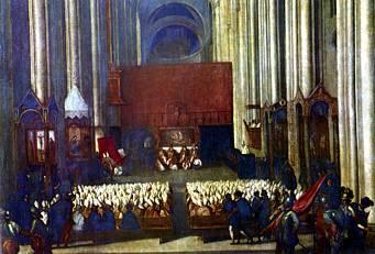 Concilio de Trento. Los jesuitas tomaron la postura mas intransigente respecto del dogma y la disciplina.